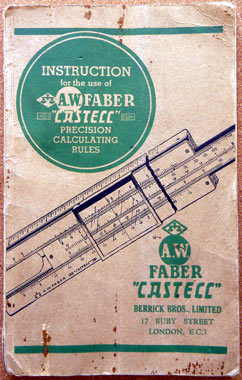 faber castell slide rule instructions